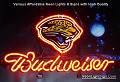 NFL Jacksonville Jaguars Budweiser Beer Bar Neon Light Sign