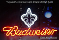 NFL Orleans Saints  Budweiser Beer Bar Neon Light Sign