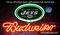 NFL New York Jets  Budweiser Beer Bar Neon Light Sign