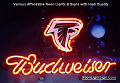 NFL Atlanta Falcons  Budweiser Beer Bar Neon Light Sign