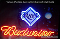 MLB Tampa Bay Rays Budweiser Beer Bar Neon Light Sign
