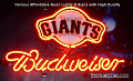 MLB San Francisco Giants Budweiser Beer Bar Neon Light Sign