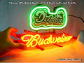 NFL  Miami Dolphins  Budweiser Beer Bar Neon Light Sign