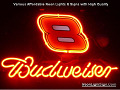 NASCAR #8 DALE Budweiser Beer Bar Neon Light Sign