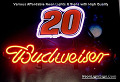 NASCAR #20 DALE Budweiser Beer Bar Neon Light Sign