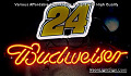 NASCAR #24 DALE Budweiser Beer Bar Neon Light Sign