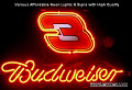 NASCAR  #3 DALE EARNHART Budweiser Beer Bar Neon Light Sign