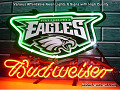 NFL  PHILADELPHIA EAGLES  Budweiser Beer Bar Neon Light Sign