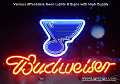 NHL Nashville Predators Hockey Budweiser Beer Bar Neon Light Sign