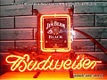 Jim Beam Black Brand LOGO Budweiser Beer Bar Neon Light Sign