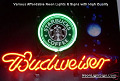 Starbucks Coffee LOGO  Budweiser Beer Bar Neon Light Sign