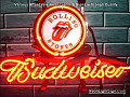 Rolling Stones Budweiser Beer Bar Neon Light Sign