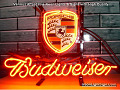 PORSCHE Budweiser Beer Bar Neon Light Sign