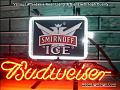 Smirnoff Ice Vodka Budweiser Beer Bar Neon Light Sign