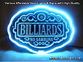 Billiards Pool Snooker 3D Beer Bar Neon Light Sign