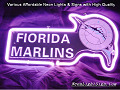 MLB Florida Marlins 3D Beer Bar Neon Light Sign