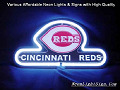 MLB Cincinnati Reds 3D Beer Bar Neon Light Sign