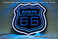 Route 66 Road 3D Beer Bar Neon Light Sign