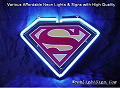 SUPERMAN  Road 3D Beer Bar Neon Light Sign