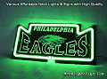NFL Philadelphia Eagles 3D Beer Bar Neon Light Sign