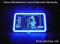 NCAA DUKE BLUE DEVILS 3D Beer Bar Neon Light Sign