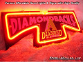 MLB Arizona Diamondbacks 3D Beer Bar Neon Light Sign