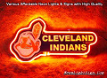 MLB CLEVELAND INDIANS 3D Beer Bar Neon Light Sign