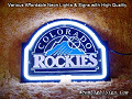 MLB COLORADO ROCKIES 3D Beer Bar Neon Light Sign