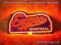 MLB MONTREAL EXPOS 3D Beer Bar Neon Light Sign