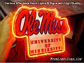 NCAA OLE MISS REBELS MISSISSIPPI 3D Beer Bar Neon Light Sign