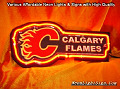 NHL Calgary Flames 3D Beer Bar Neon Light Sign