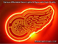 DETROIT RED WINGS 3D Beer Bar Neon Light Sign