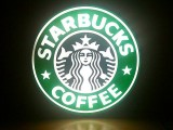 Starbucks Cafe Coffee Bar Display Neon Light Box Sign